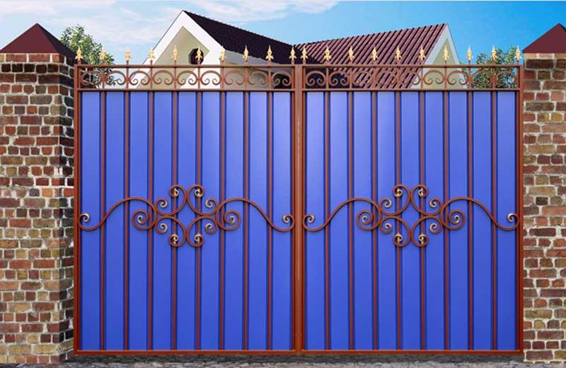 Ворота из профиля своими руками фото